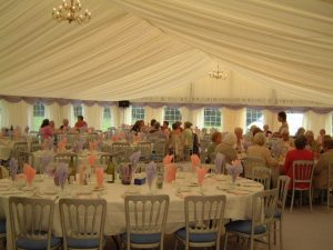Marquee event at Woodford, Cheshire - Ladies Luncheon